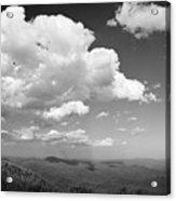 Black And White Blue Ridge Mountains Acrylic Print