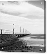 Black And White Image Of Shorncliffe Pier Acrylic Print