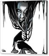 Black. Acrylic Print