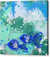 2 Blue Fish Acrylic Print