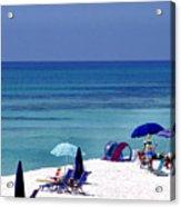 Blue Mountain Beach Acrylic Print