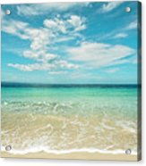 Pristine Blue Paradise Acrylic Print