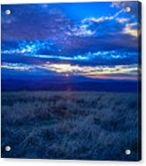 Blue Ridge Sunset Acrylic Print