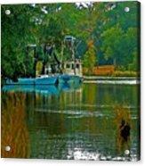2 Blue Shrimp Boats Acrylic Print