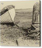 Boat At Porlock Weir. Acrylic Print