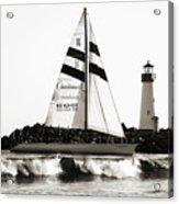 2 Boats Approach 2 Acrylic Print