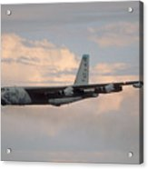 Boeing B-52g Stratofortress 59-2565 93rd Bomb Wing Castle Afb September 17 1992 Acrylic Print