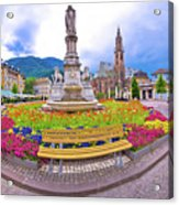 Bolzano Main Square Waltherplatz Panoramic View Acrylic Print