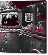 Bonnie And Clyde Death Car South Of Gibsland Toward Sailes Louisiana May 23 1933-2013 Acrylic Print