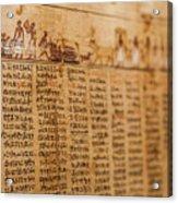 Book Of The Dead Acrylic Print