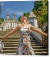 Braga Portugal Woman Acrylic Print