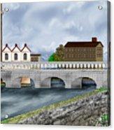 Bridge In Old Galway Ireland Acrylic Print
