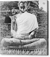 Buddha Statue Acrylic Print by Thosaporn Wintachai