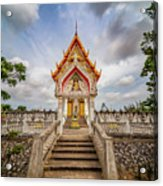 Buddhist Temple Acrylic Print by Adrian Evans