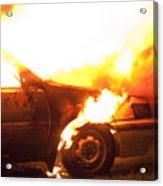 Burning Car Acrylic Print