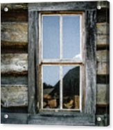 Cabin Window Acrylic Print