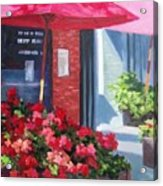 Cafe In Red Acrylic Print