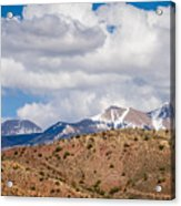 Canyon Badlands And Colorado Rockies Lanadscape Acrylic Print
