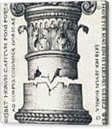 Capital And Base Of A Column Acrylic Print