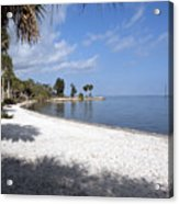 Castaway Point On The Indian River Lagoon With Coquina Rock Acrylic Print