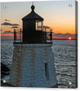 Castle Hill Light Newport Rhode Island Acrylic Print