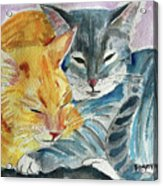 Kitty And Kat Acrylic Print