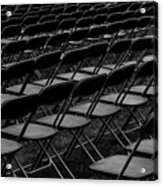 Chair Pattern Empty Seats Acrylic Print