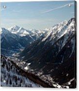 Chamonix Resort In The French Alps Acrylic Print
