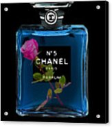 Chanel With Rose Acrylic Print