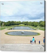 Chantilly Castle Garden In France Acrylic Print