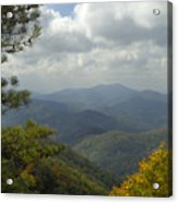 Cherohala Skyway In Autumn Color Acrylic Print