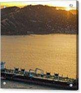 Chevron Pegasus Voyager Oil Tanker Acrylic Print