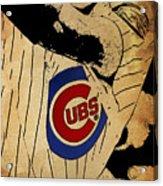Chicago Cubs Baseball Team Vintage Card Acrylic Print