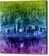 Chicago Skyline Abstract Acrylic Print