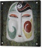 Chinese Porcelain Mask Grunge Acrylic Print