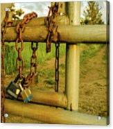 Padlocks And Chains Acrylic Print