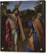 Christ Appearing To Saint Peter On The Appian Way Acrylic Print