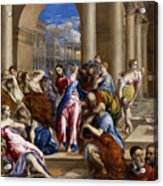 Christ Driving The Money Changers From The Temple Acrylic Print