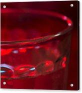 Christmas Theme Glass Of Water Acrylic Print