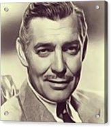 Clark Gable, Vintage Actor Acrylic Print