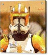 Clone Trooper Commander Acrylic Print