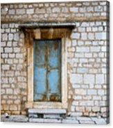 Closed Door Of An Old Chapel In Croatia Acrylic Print