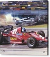 Cma 081 1983 San Marino Gp Imola Patrick Tambay In Ferrari Roy Rob Acrylic Print