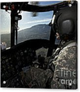 Co-pilot Flying A Ch-47 Chinook Acrylic Print