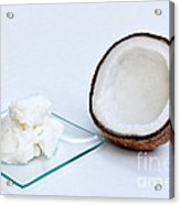 Coconut Oil And Coconut Acrylic Print