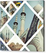 Collage Of Iran Images Acrylic Print