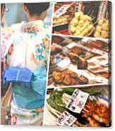 Collage Of Japan Food Images Acrylic Print