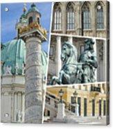 Collage Of Vienna Acrylic Print