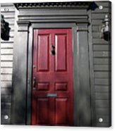 Colonial Red Door Newport Rhode Island Acrylic Print