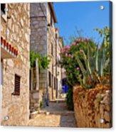 Colorful Mediterranean Stone Street Of Prvic Island Acrylic Print